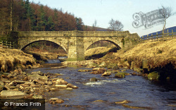 Slippery Stones Pack Horse Bridge c.1990, Bamford