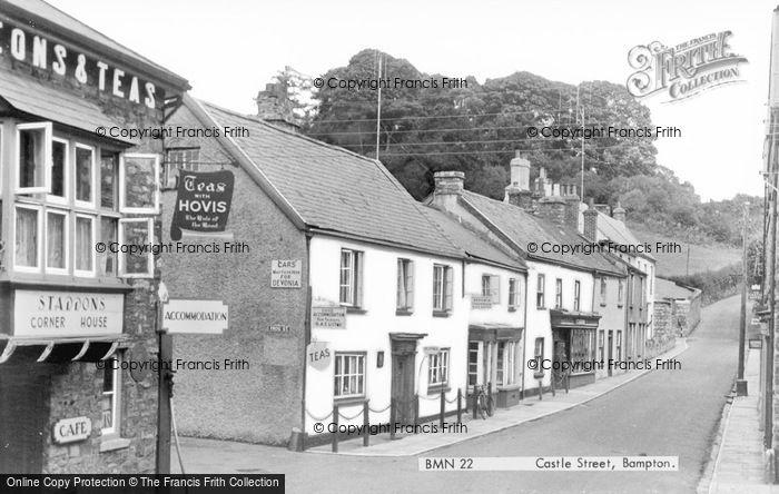 Photo of Bampton, Castle Street c.1955