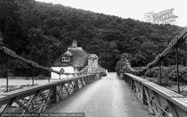 Photo of Bampton, Chain Bridge c.1950