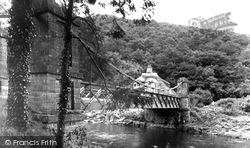 Bampton, Chain Bridge, Exe Valley c.1950