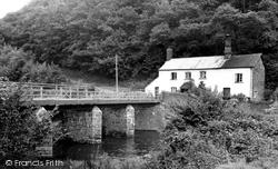 Bampton, Halfpenny Bridge c.1955