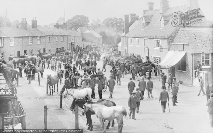 Photo of Bampton, Horse Fair 1904