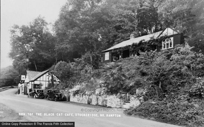 Photo of Bampton, The Black Cat Cafe c.1950