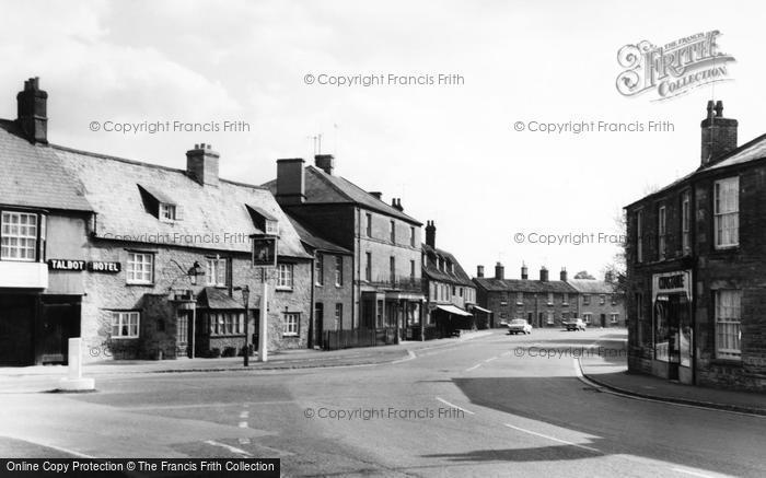 Photo of Bampton, The Talbot Hotel, Bridge Street c.1965
