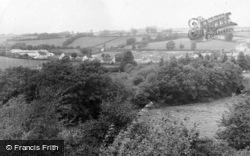 View From Tiverton Road c.1955, Bampton