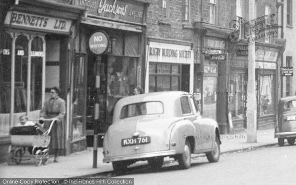 Photo of Banbury, High Street Shops c.1955