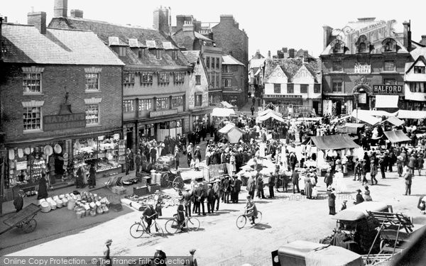 Photo of Banbury, Market 1921