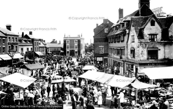 Photo of Banbury, Market 1921