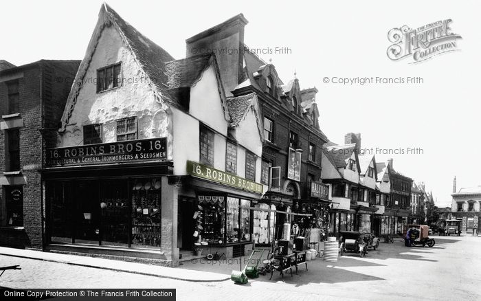 Photo of Banbury, Old Houses, Market Place 1922