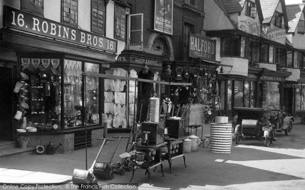 Banbury, Old Shop, Market Place 1922