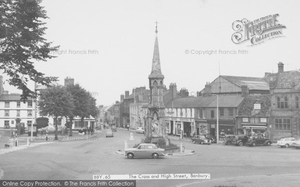 Photo of Banbury, The Cross And High Street c.1960