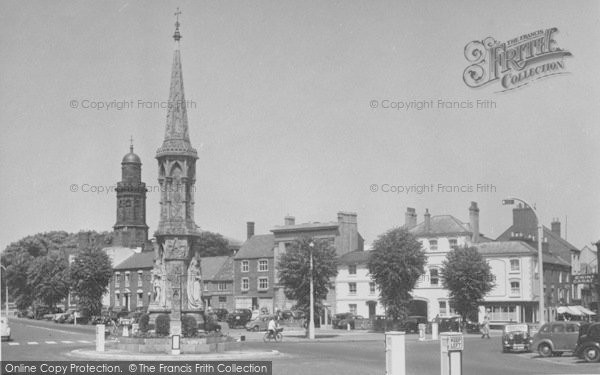 Photo of Banbury, The Cross And St Mary's Church c.1955