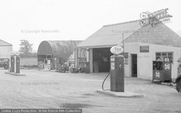 Photo of Bancyfelin, The Main Road, Petrol Station 1957