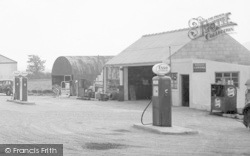 Bancyfelin, The Main Road, Petrol Station 1957
