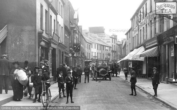 Photo of Bangor, Busy High Street 1908