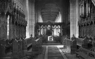 Bangor, Cathedral, Choir West 1911