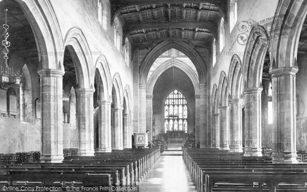 Photo of Bangor, Cathedral, Nave East 1890