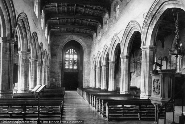 Photo of Bangor, Cathedral Nave West 1890