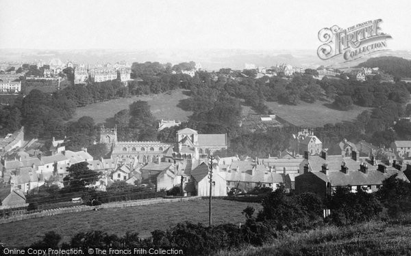 Photo of Bangor, From Recreation Ground 1890