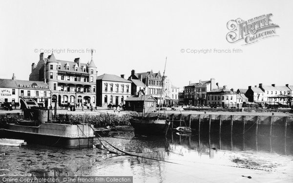 Photo of Bangor, Grand Hotel From The Old Pier 1897