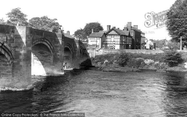 Photo of Bangor Is Y Coed, Bridge c.1955
