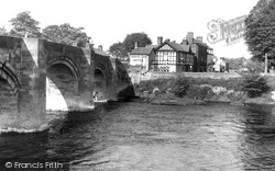 Bangor-Is-Y-Coed, Bridge c.1955