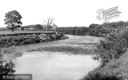 Bangor-Is-Y-Coed, Old Iron Bridge c.1955