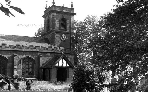 Photo of Bangor Is Y Coed, St Dunawd's Church c.1955