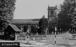 Bangor-Is-Y-Coed, The Church And Lychgate c.1955