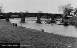 Bangor-Is-Y-Coed, The River And Bridge c.1955