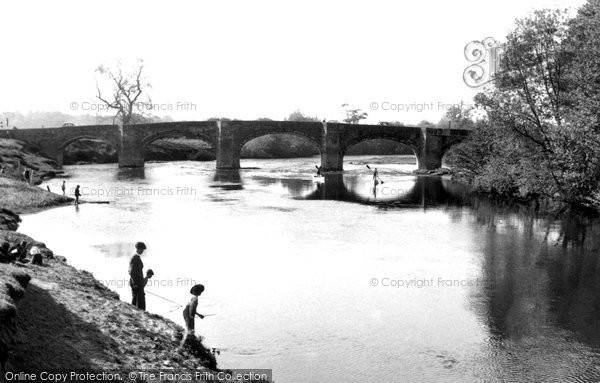 Photo of Bangor Is Y Coed, The River Dee And The Bridge c.1955