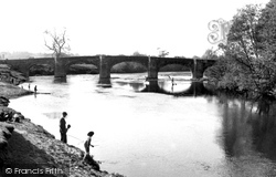Bangor-Is-Y-Coed, The River Dee And The Bridge c.1955