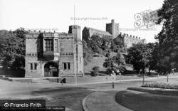 Memorial Arch And University c.1960, Bangor