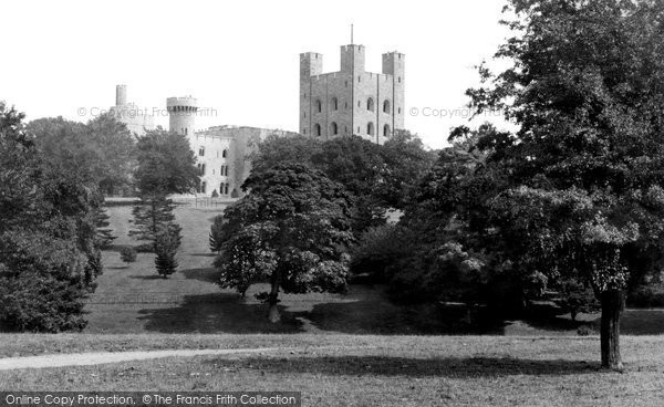 Llandygai, Penrhyn Castle from the Park c1883