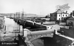 Bangor, Port Penrhyn, Bridge And Slate Schooners c.1910