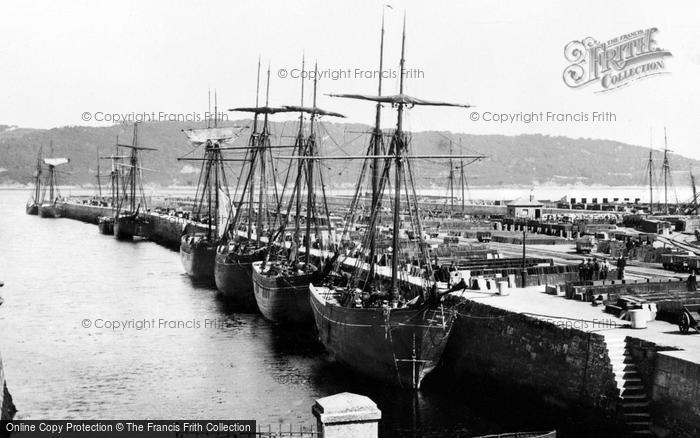 Photo of Bangor, Port Penrhyn, Slate Schooners c.1910