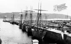 Bangor, Port Penrhyn, Slate Schooners c.1910