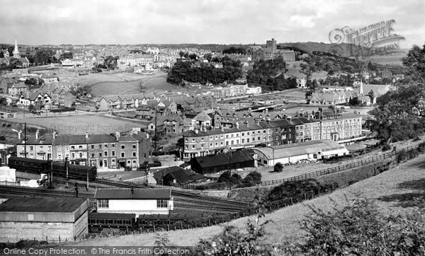 Photo of Bangor, Railway And Town 1930