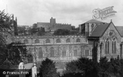 The Cathedral And University c.1950, Bangor