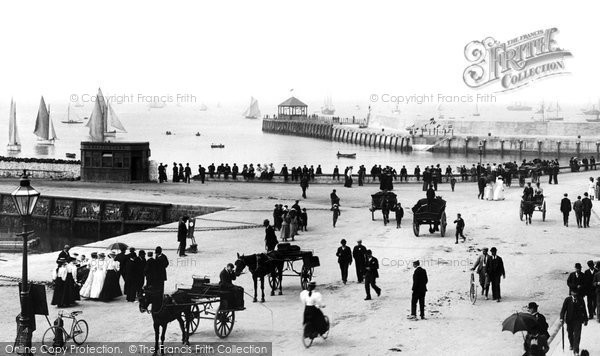 Photo of Bangor, The Pier And The Esplanade 1897