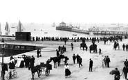 Bangor, The Pier And The Esplanade 1897
