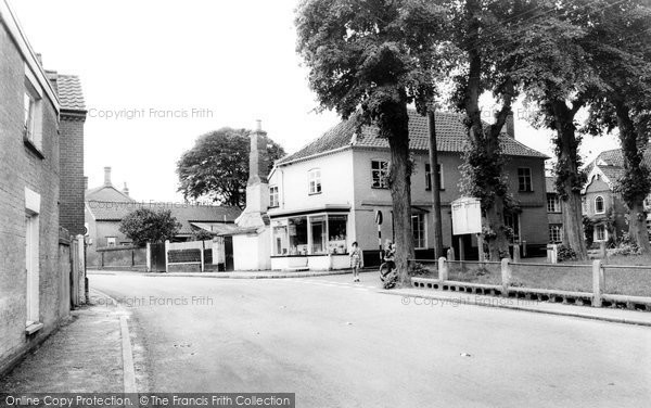 Photo of Banham, Post Office And Green c.1955