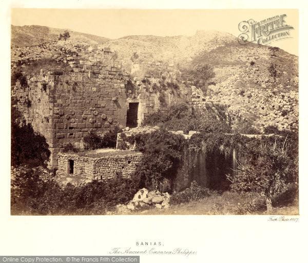 Photo of Banias, The Ancient Caesarea Philippi 1857