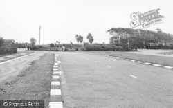 Banks, The Main Road And Roundabout c.1955