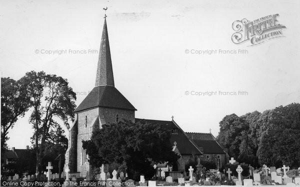 Photo of Banstead, All Saints Church c.1955