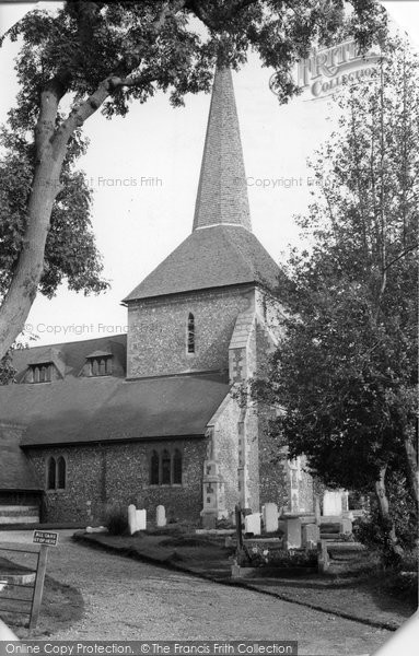 Photo of Banstead, All Saints Church c.1955
