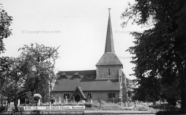 Photo of Banstead, All Saints Church c.1965