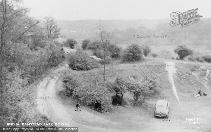 Photo of Banstead, Park Downs c.1955