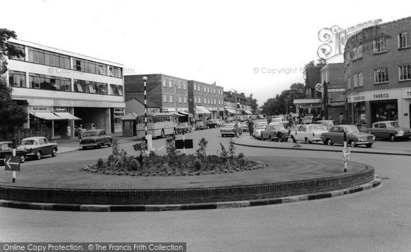 Photo of Banstead, The Roundabout c.1965