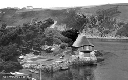 Boathouse And The River Avon c.1950, Bantham